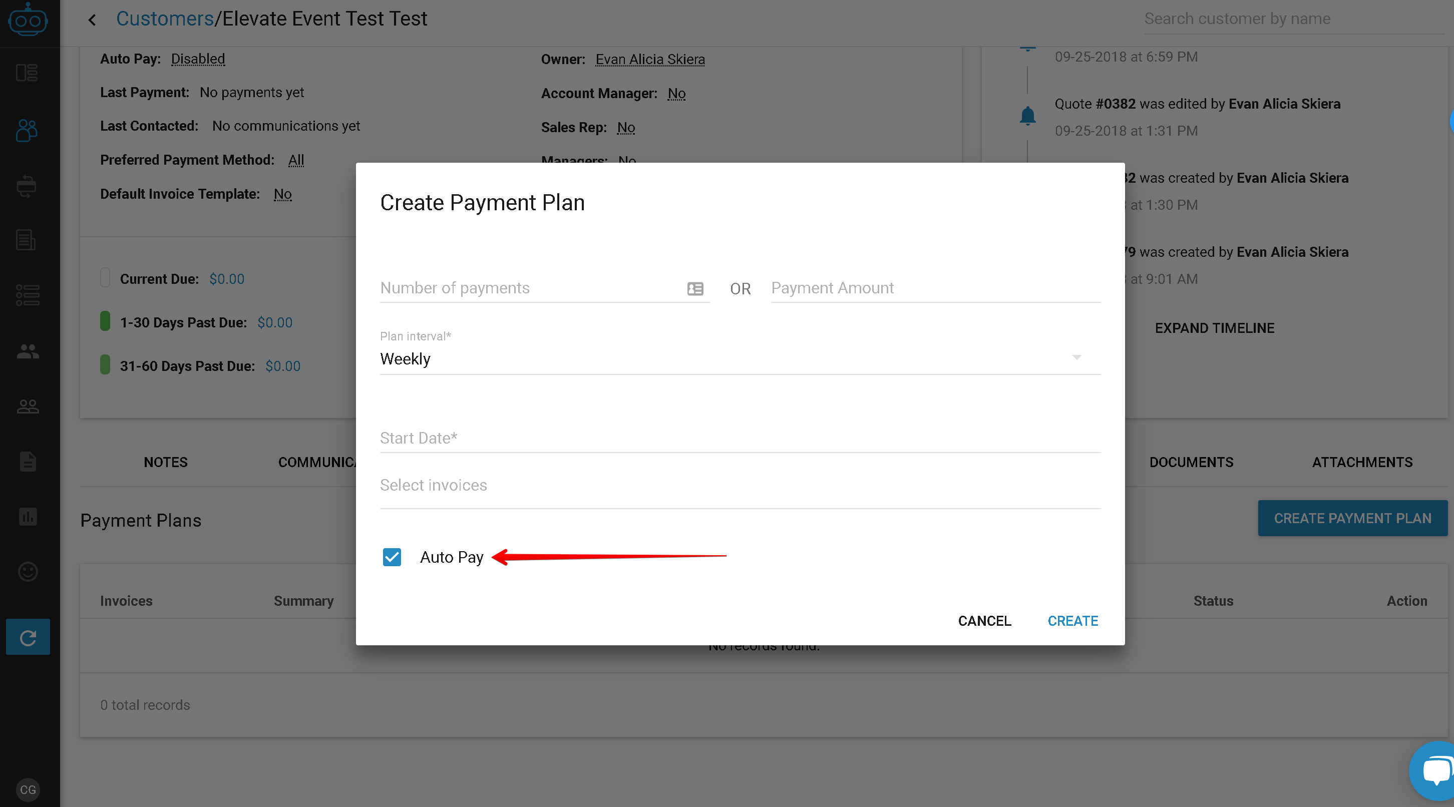 Auto Pay Payment Plan